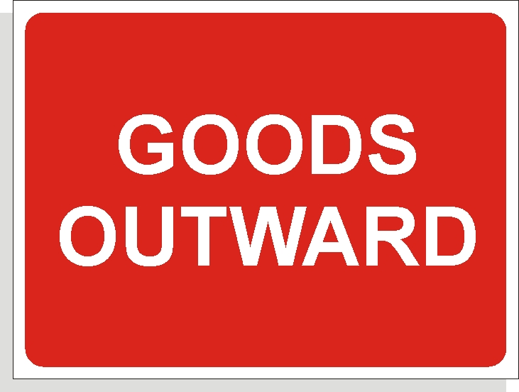 Goods Outward sign